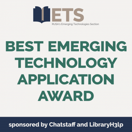 RUSA Best Emerging Technology Application Award logo